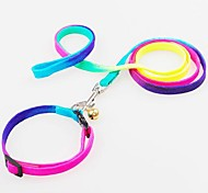 Adjustable Nylon Multicolour  Collar with Leash for Pet Dogs