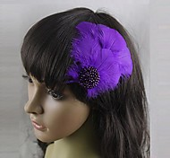 Glow Feather Carnival Headdress Hairpin
