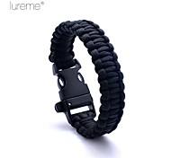 Lureme® Paracord Survival Escape To Whistle Cord Bracelet