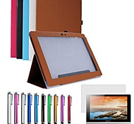 "Folding PU Leather Case Cover Stand for 10.1"" Lenovo S6000-H-F-G Tablet + Pen + Film (Assorted Colors)"