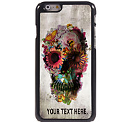 "Personalized Case Skull and Flower Design Metal Case for iPhone 6 (4.7"")"