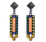 Wholesale Fashion Exotic Rextangle Shape Long Earrings