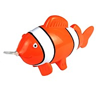Pull Ring Plastic Tropical Fish Shaped Toy - Orange + White + Multi-Color
