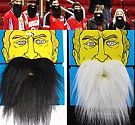 1PCS James Harden&Santa Claus Black White Fake Beard Cosplay Practical Joke Gadget(Assorted Color,20x18cm)