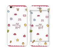 Cartoon Pattern Front and Back Skin Sticker for iPhone 6 plus