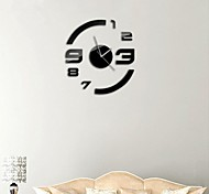"21""H Modern Style DIY 3D Mirror Acrylic Surface Sticker Wall Clocks For Bedroom Livingroom"