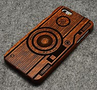 Pear Wood Camera Hard Back Cover for iPhone 6 Plus