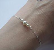 Eruner®European Pearl Women's White Pearl Strand Bracelet