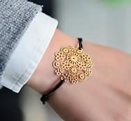 Fashion Women Flower Stamping Elastic Bracelet