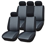 9 piezas / set asiento del coche cubre el material jacquard material de ajuste universal con compuestos 3mm accesorios de automóviles esponja