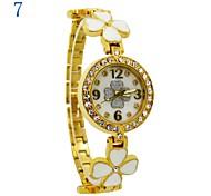 relógio de diamantes pulseira de flores de discagem quartzo japonês moda feminina (cores sortidas)