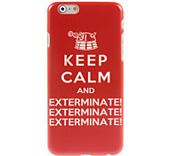 Keep Calm Pattern Hard Case for iPhone 6