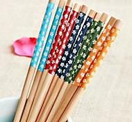 florais impressos pauzinhos de bambu (1 par de cores sortidas)