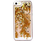corazón de oro escenario como el caso duro del patrón de plástico reloj de arena para el iphone 5 / 5s