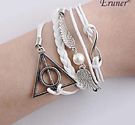 Eruner®New Harry Potter Infinity Bracelet Wings DIY White Charm Rope Leather Bracelets