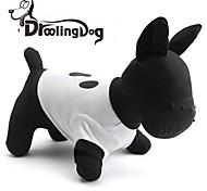 droolingdog® kühlen lustiges Gesicht Muster aus 100% Baumwolle T-Shirt für Hunde (weiß XS-L)