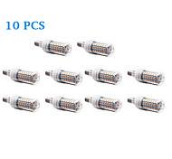 10Pcs E14 12W 56x5730SMD 1200LM 3500K/6000K Warm White/Cool White Light LED Corn Bulb (220-240V)