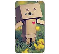 Grass and Wooden Man Design Hard Case for Nokia N625