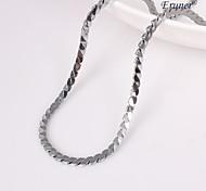 Eruner®Unisex 4MM Silver Chain Necklace NO.120