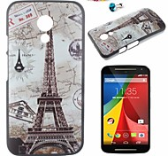 Tower Pattern PC Back Cover Case With Dustproof plug for Motorola G2