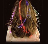 LED Aglimmer Glowing Flash Hair Braid Novelty Party Festivel Decoration