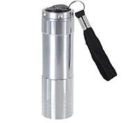 LS171 9 LED Pocket Aluminum Torch Flashlight Camping Light Lamp(3xAAA, Silver)