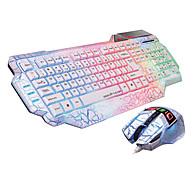 DH KB-6658 USB Luminous Gaming Keyboard Mouse Kit 2400DPI