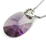 оптовая торговля модной одеждой циркон овальной ожерелье случайный цвет