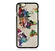 Abstract Painting Leather Vein Pattern Hard Case for iPhone 6