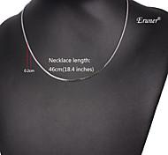 eruner®unisex plata 2 mm collar de cadena no.45