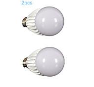 E26/E27 Bombillas LED de Globo G60 1 COB 700-800 lm Blanco Fresco AC 85-265 V 2 piezas