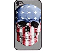 Skull with The Old Glory Design Aluminum Hard Case for iPhone 4/4S