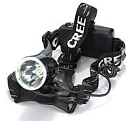 Headlamps LED Mode 1600 Lumens Waterproof / Rechargeable / Impact Resistant / Strike Bezel / Tactical / Emergency Cree XM-L T6 18650