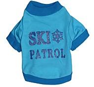 kühlen Skipatrouille Muster aus 100% Baumwolle T-Shirt für Haustiere Hunde (verschiedene Größen)