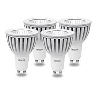 4 Stück IENON® LED Spot Lampen MR16 GU10 5W 400-450 LM 6000 K COB Kühles Weiß AC 100-240 V