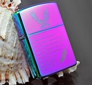 Zorro Purple Lucky Feather Metal Copper Shell Oil Lighter