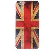 caso suave del diseño del Union Jack para el iphone 6 más