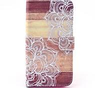 Mandala Blume auf Holz Muster Ganzkörper-Fall mit Kartensteckplatz für Huawei Ascend g620s