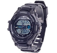 Men's OHSEN AD1302  Rubber Wristbarnd Sport Analog and Digital Quartz Wrist Watch (Assorted Colors)