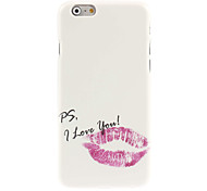 Red Lip Design Hard Case for iPhone 6