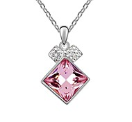 Love in Summer Fashionable Short Necklace Plated With 18K True Platinum Light Rose Austrian Crystal Rhinestone