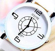 Men's Round Dial PU Band Quartz Fashion Watch (Assorted Colors)