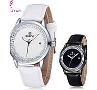 SKONE® Women's Round Dial Pu Leather Rhinestones Quartz Wristwatch (Assorted Colors) Cool Watches Unique Watches Fashion Watch