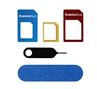 5-In-1 Aluminum Alloy SIM Card to Micro/Standard SIM Card Adapter Set for iPhone 5 and Others