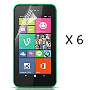 (6 piezas) Protector de pantalla de alta definición para Nokia Lumia 530