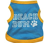 Lovely Sandy Beach Cotton Vest for Dogs (Blue  Assorted Sizes)
