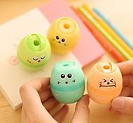 Magic Egg Shaped Manual Pencil Sharpener(Random Color)