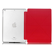 Natusun™ Gravel Pattern 8 Gussets PU Leather Smart Cover Edges of Thin Hard Plastic Case for iPad Air/iPad 5