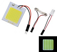 4W 450lm 48-LED T10 White Light Car Roof Light - (12V)