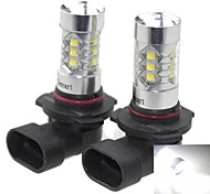 2 x 9006 HB4 P22D 80W 16xCREE Cold White 4500LM 6500K for Car Fog Light (AC/DC12V-24)